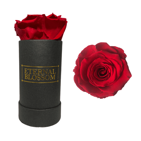 Individual Blossom Box - Black Box – 24 Year Lasting Rose Colours-Eternal Blossom - Year Lasting Infinity Roses