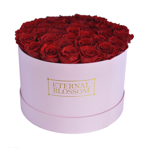 LIMITED EDITION - Pastel Pink Round Boxes - Large & Extra Large Arrangements - Valentines Collection