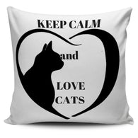 KEEP CALM and LOVE CATS- PILLOW COVERS