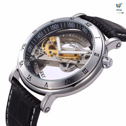 Luxury Men's Automatic-Mechanical Leather Watch- FREE SHIPPING