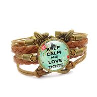 Keep calm and love dogs bracelets & bangles
