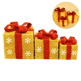 3 Lighted Gift Boxes Christmas Decoration Yard Decor 150 Lights Indoor Outdoor