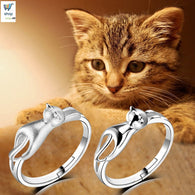 Cat leans on the ring