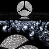 Steering Wheel Center Logo Rhinestone Bling Stickers Trim For Mercedes Benz size 49mm or 1.93""