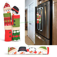 Christmas Refrigerator Handle Covers Set