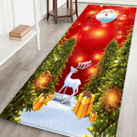 Santa Door Floor Mat Christmas Area Rug Holiday Kitchen Bedroom MAT Carpet Decor