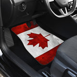 """CANADA FLAG"" Front Car Mats Set of 2-EXCLUSIVE-CUSTOM MADE"