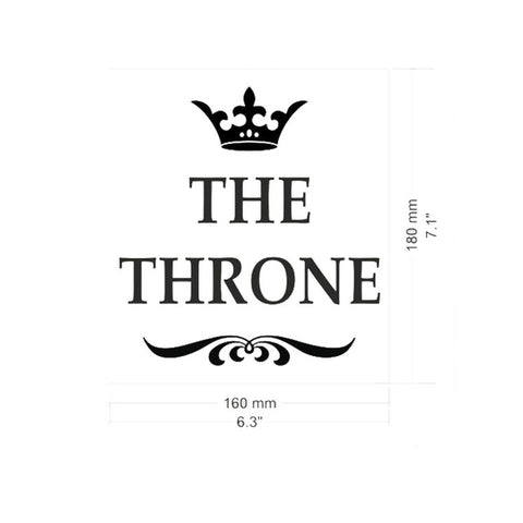 THE THRONE Toilet Wall Stickers Bathroom Decoration