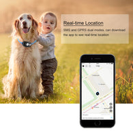 Waterproof Mini GPS Cats&Dogs Collar Tracker Locator with Free APP for iOS/Android- REAL TIME LOCATION