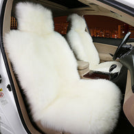 2 PCS 100% Natural Sheepskin Fur Warm Seat Cover- Winter Car Seat Cover-HIGH QUALITY