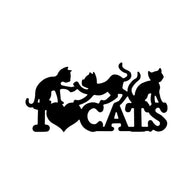 I Love Cats-  Vinyl Car Sticker 16cm*8cm
