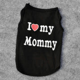 Cute Cat Clothes  -I Love Mommy or Daddy