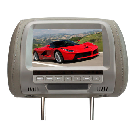 Christmas Special-7'' Inches Car Monitor TFT LED Digital Screen Headrest Monitor -2 Video input 30% OFF