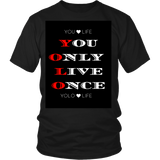 "MENS – t-SHIRTS,HOODIE,APPAREL, SWEATSHIRT- FREE SHIPPING ""YOU ONLY LIVE ONCE"""