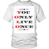 "MENS – T-shirts, HOODIE, APPAREL, SWEATSHIRT- FREE SHIPPING  ""You Only Live Once"""