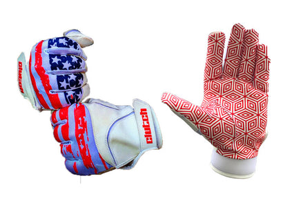 American Flag Batting Gloves-New Grip