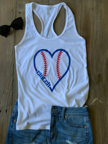 Baseball Heart Tank Top