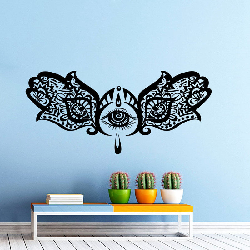 Hand Buddha Quotes Namaste Wall Decals Yoga Mandala Stickers For Living Rooms DIY Home Decor