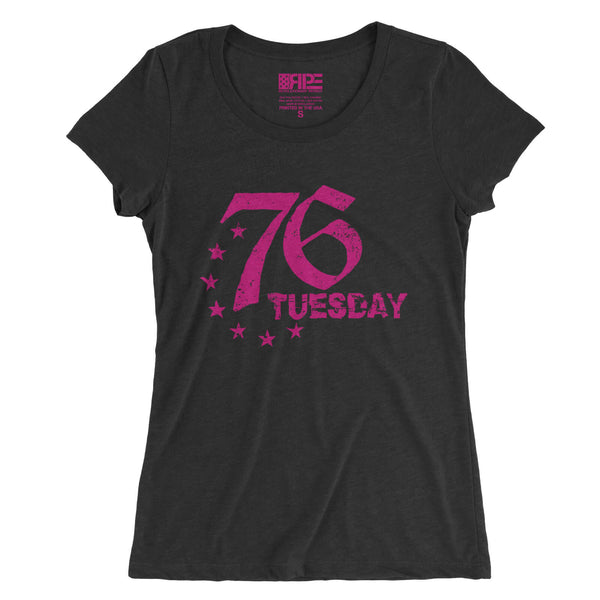 76 Tuesday - (Charcoal Triblend) Pink