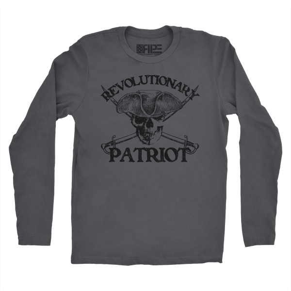 Black Flag Long Sleeve (Dark Grey) - Revolutionary Patriot