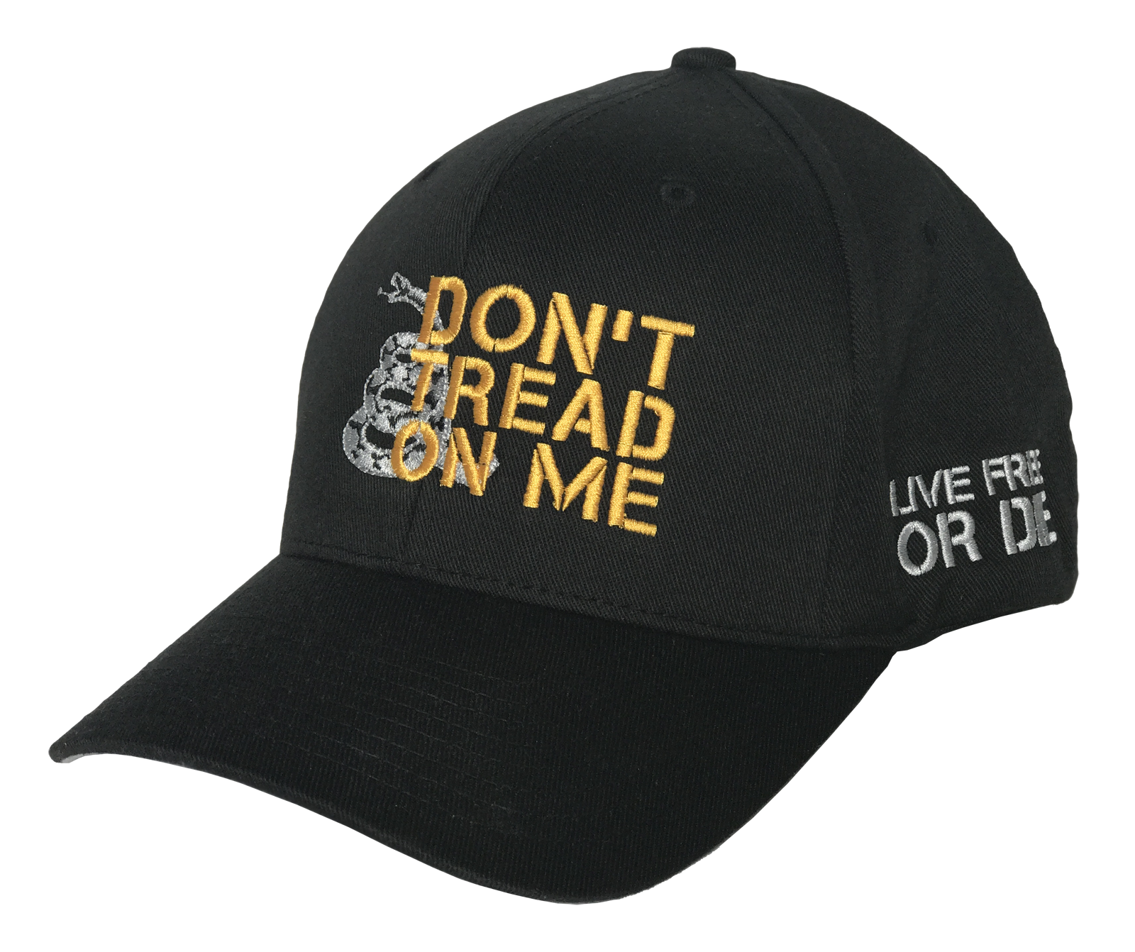Don't Tread on Me Flexfit (Black) - Revolutionary Patriot