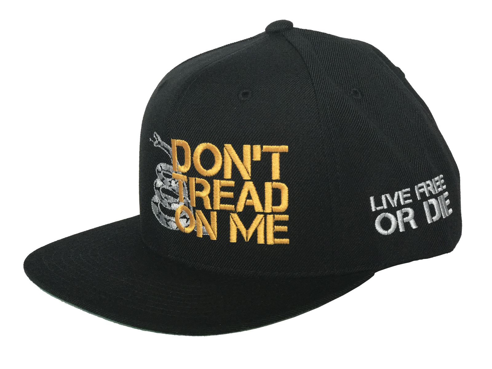 Don't Tread On Me Snapback (Black) - Revolutionary Patriot