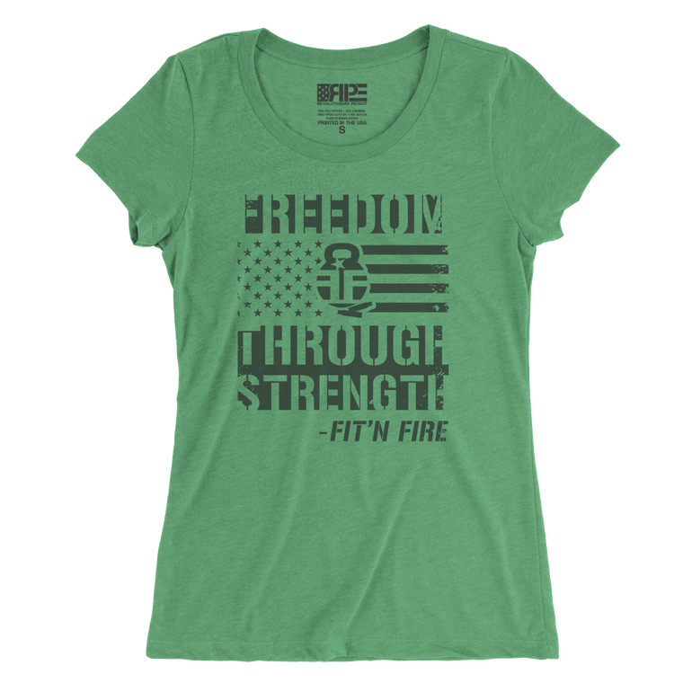 Freedom Through Strength Women's - (Green)
