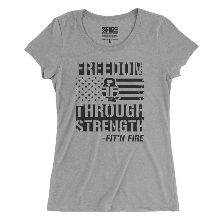 Freedom Through Strength Women's - (Grey)