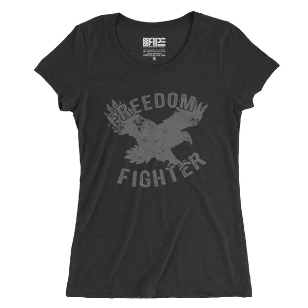 Freedom Fighter Women's - (Charcoal Triblend) - Revolutionary Patriot