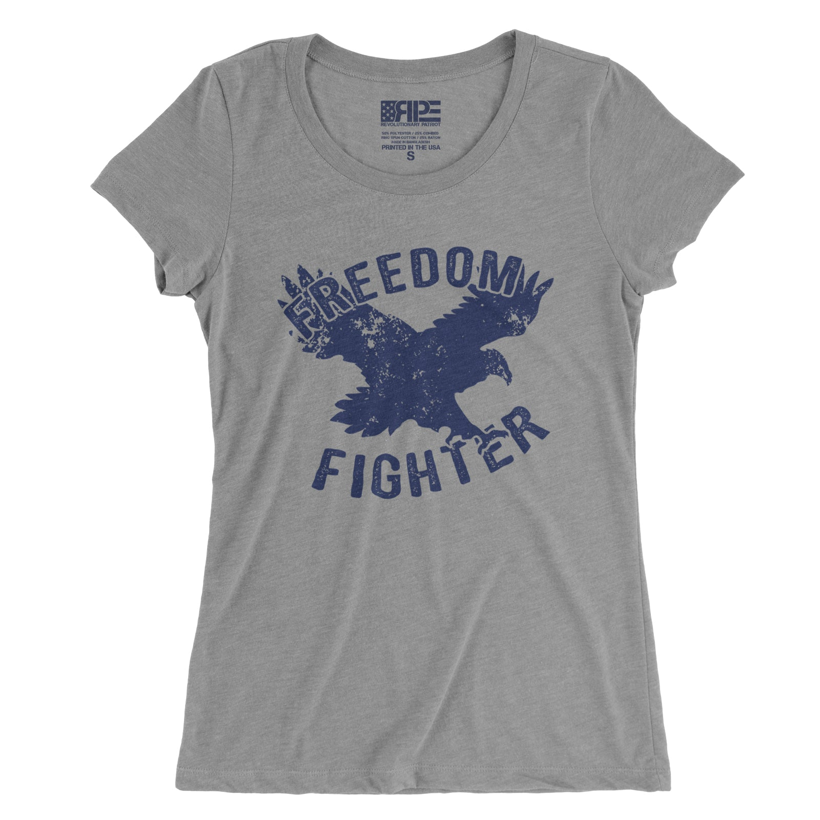 Freedom Fighter Women's - (Grey) - Revolutionary Patriot