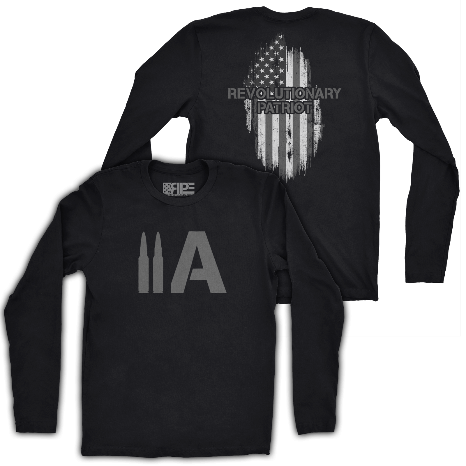 2A Long Sleeve (Black) - Revolutionary Patriot