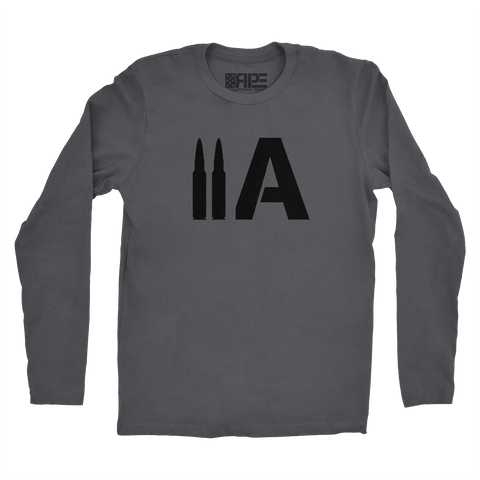 2A Long Sleeve (Dark Grey) - Revolutionary Patriot