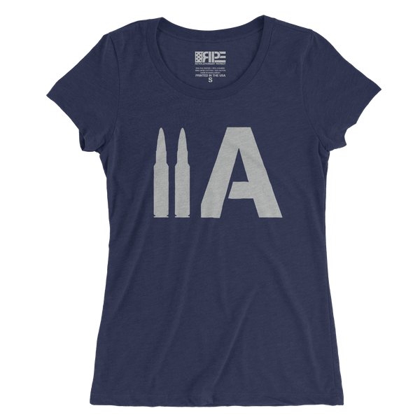 2A Women's - (Heather Navy Triblend) - Revolutionary Patriot