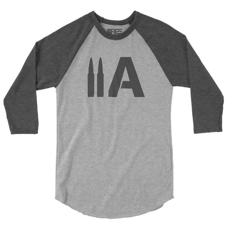 2A 3/4 Sleeve (Heather Grey / Dark Heather Grey)