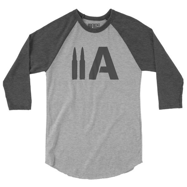 2A 3/4 Sleeve (Heather Grey / Dark Heather Grey) - Revolutionary Patriot