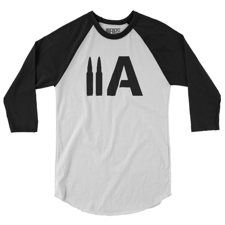 2A 3/4 Sleeve (White / Black)