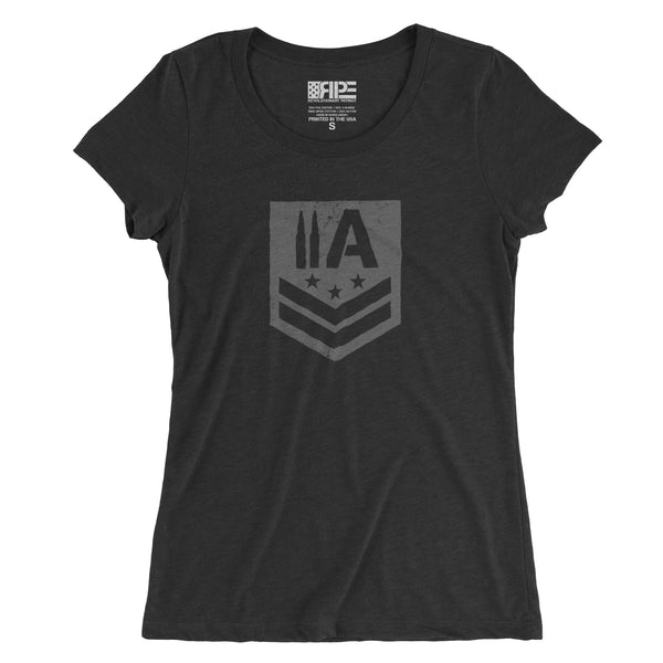 2A Insignia Women's - (Charcoal Triblend) - Revolutionary Patriot