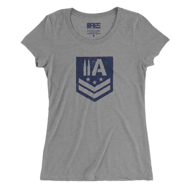 2A Insignia Women's - (Grey) - Revolutionary Patriot