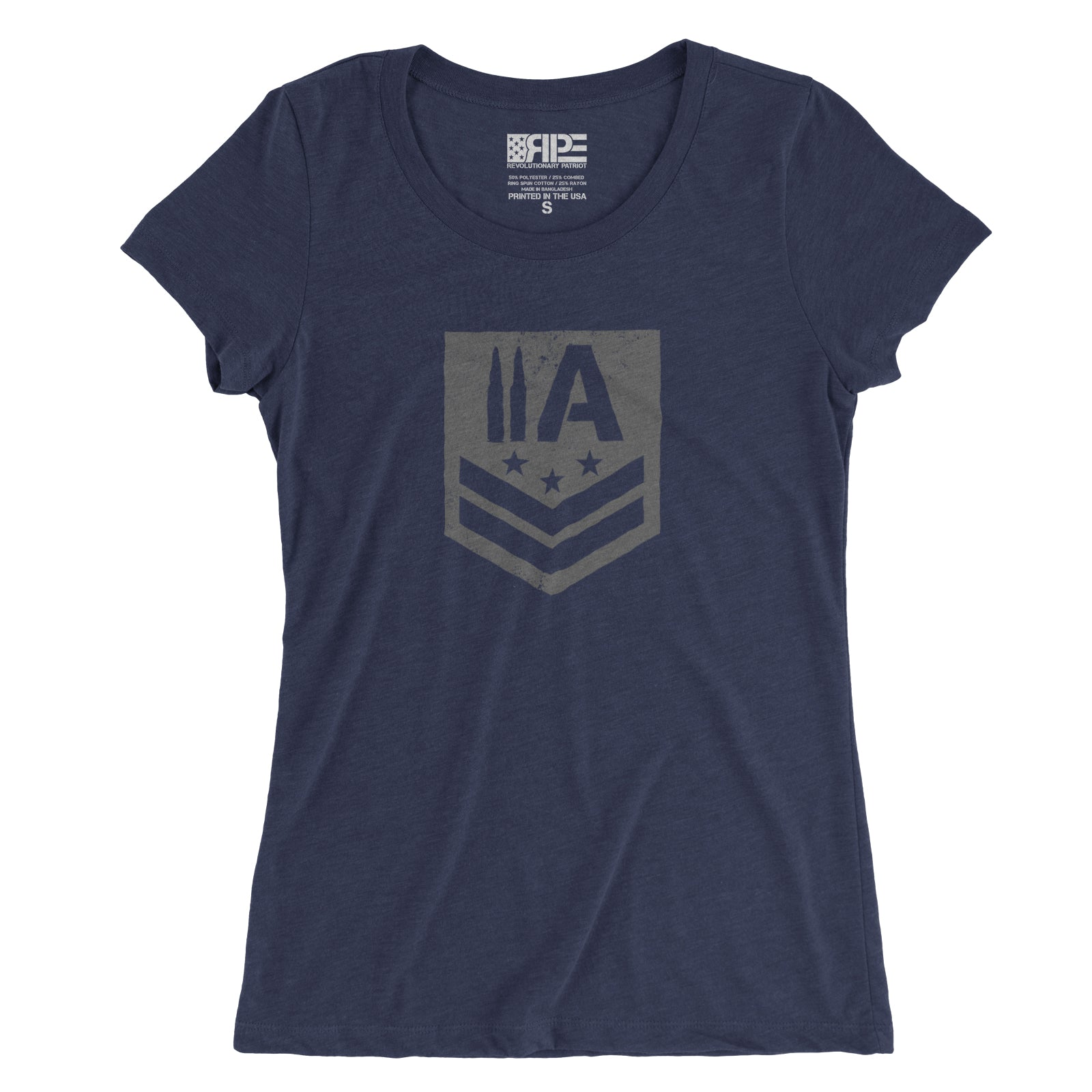 2A Insignia Women's - (Heather Navy Triblend) - Revolutionary Patriot