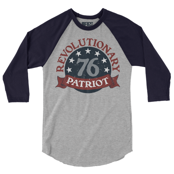 1776 3/4 Sleeve (Heather Grey / Navy)