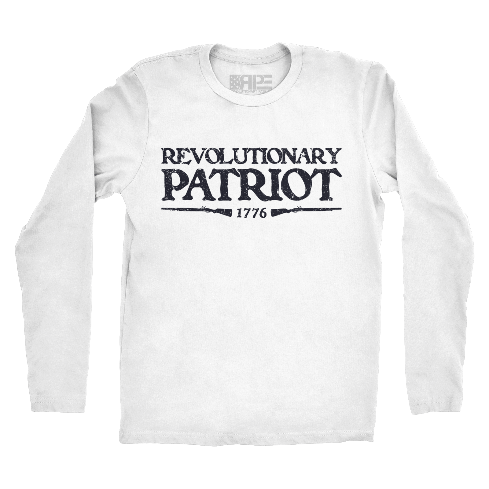 Rifleman Long Sleeve (White) - Revolutionary Patriot
