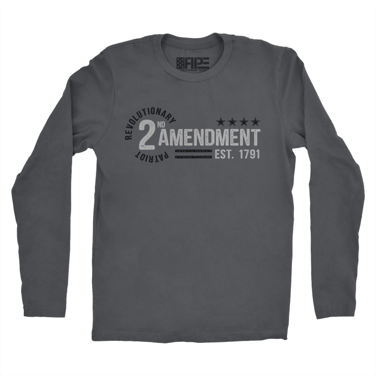 2nd Amendment - Est. 1791 Long Sleeve (Dark Grey)