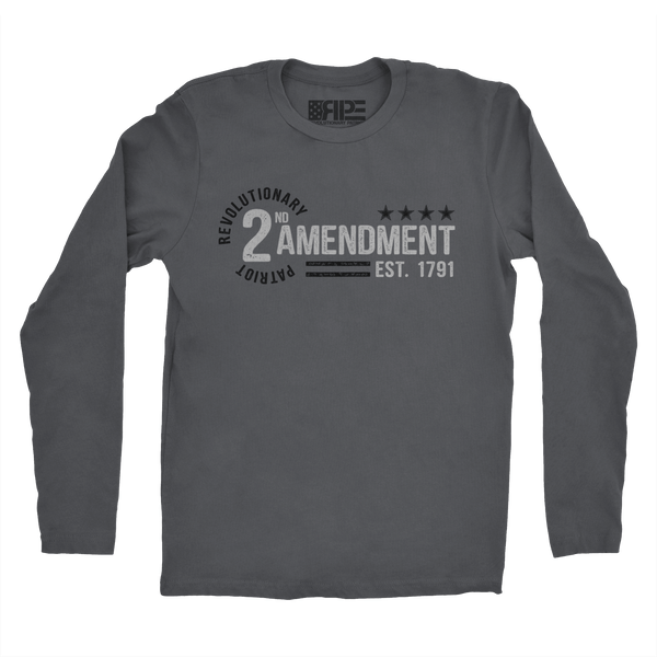 2nd Amendment - Est. 1791 Long Sleeve (Dark Grey) - Revolutionary Patriot