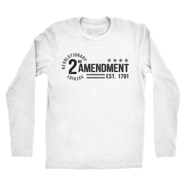 2nd Amendment - Est. 1791 Long Sleeve (White) - Revolutionary Patriot