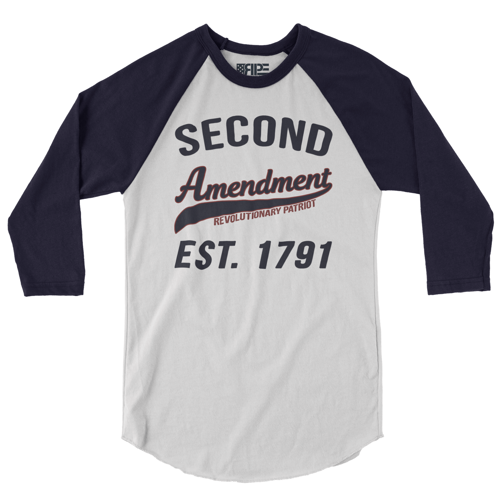 Second Amendment Collegiate 3/4 Sleeve (White / Navy)