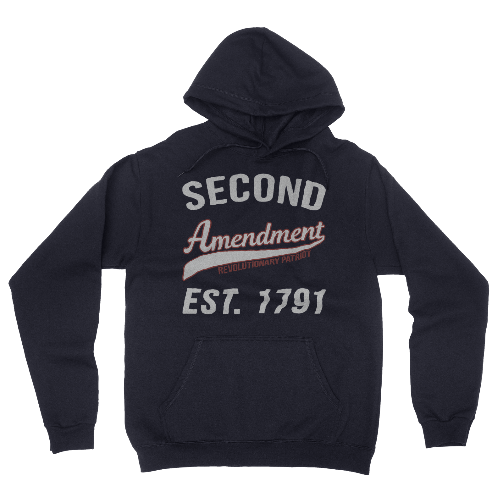 Second Amendment Collegiate Hoodie (Navy)