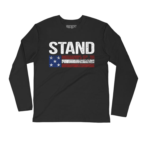 Stand Long Sleeve (Black) - Revolutionary Patriot