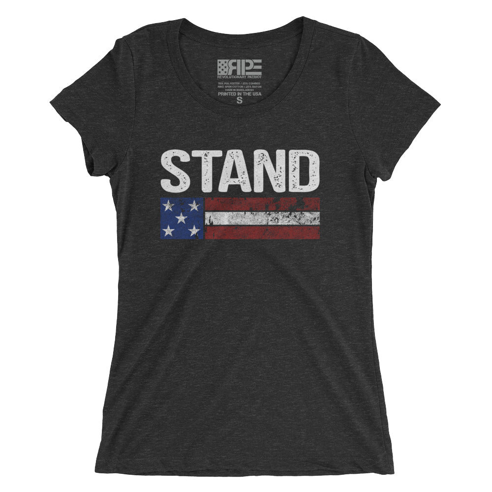 Stand Women's - (Charcoal Triblend) - Revolutionary Patriot