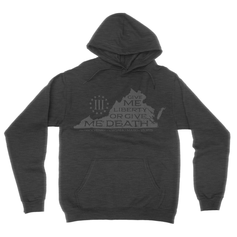 Give Me Liberty - VA Three Percenters Hoodie ( Dark Heather)