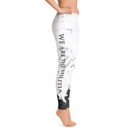 We Are The Militia Leggings (White)